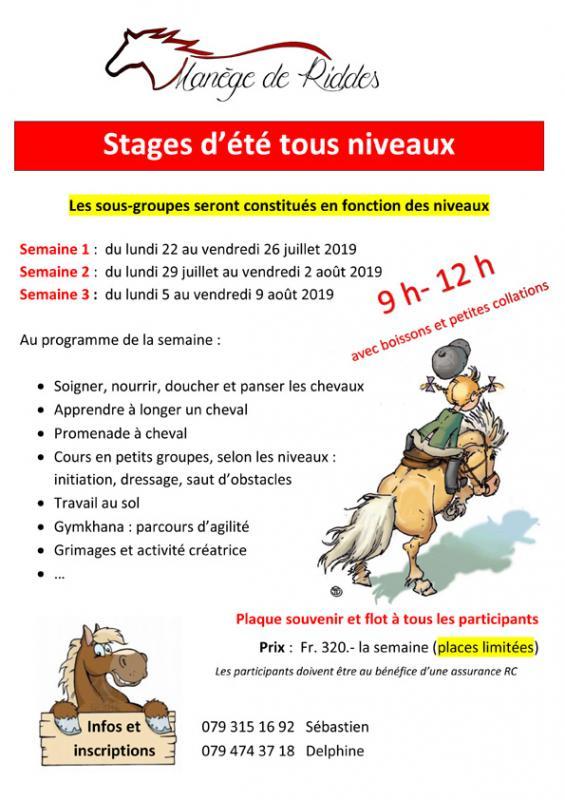 Stages d ete 2019 copy